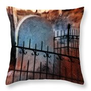 Spooky Grave Throw Pillow