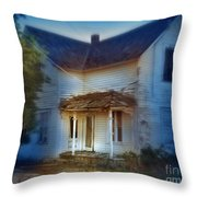 Spooky Old House Throw Pillow