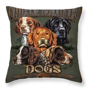 Sporting Dog Traditions Throw Pillow