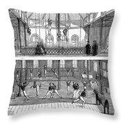 Sports: Gymnastics, 1859 Throw Pillow