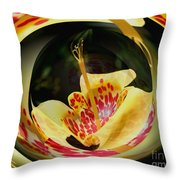 Spotted Lily Energies Throw Pillow