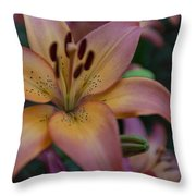 Spotty Lily Throw Pillow