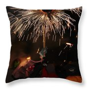 Spray Of Sparks Throw Pillow