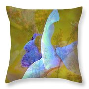 Spread To The Wind Throw Pillow by Shirley Sirois