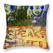 Spread Truth Angels Throw Pillow