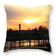Spreading Sun Throw Pillow