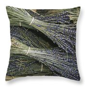 Sprigs Of Lavender, Provence Region Throw Pillow