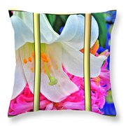 Spring Again Triptych Series Throw Pillow