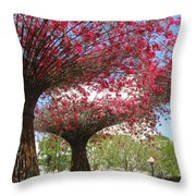 Spring Bloom At The Getty Throw Pillow