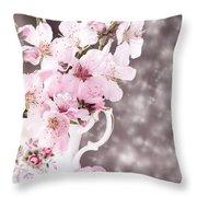 Spring Blossom Throw Pillow by Amanda Elwell