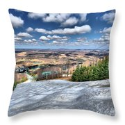 Spring Bumps Throw Pillow