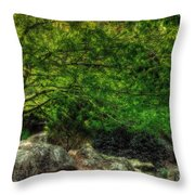 Spring Canopy Throw Pillow
