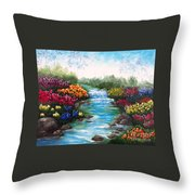 Spring Creek Throw Pillow