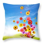 Spring Delivery 2 Throw Pillow by Carlos Caetano