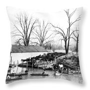 Spring Flood, 1903 Throw Pillow