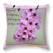 Spring Flowering Tree Inspirational Rumi Floral Throw Pillow