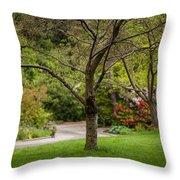 Spring Garden Landscape Throw Pillow