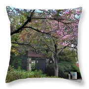 Spring In Bloom At The Japanese Garden Throw Pillow