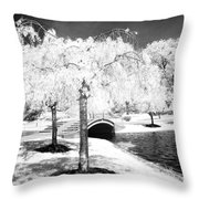 Spring In Infrared Throw Pillow