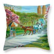 Spring In New York Throw Pillow