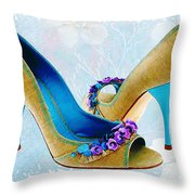 Spring In Your Step Pumps Throw Pillow