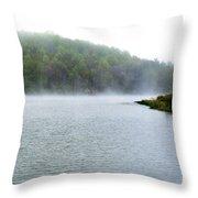 Spring Morning On The Lake Throw Pillow