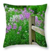 Spring Phlox 6074 Throw Pillow