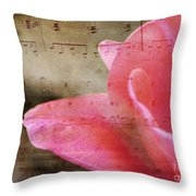 Spring Sings Throw Pillow