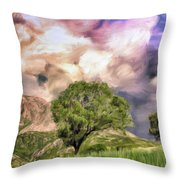 Spring Storm In Tuscany Throw Pillow