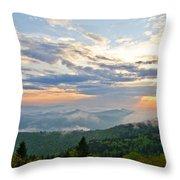 Spring Sunset Panorama Throw Pillow