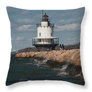 Springpoint Ledge Light House Throw Pillow