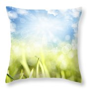 Springtime Throw Pillow by Les Cunliffe