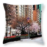 Springtime On Park Avenue Throw Pillow