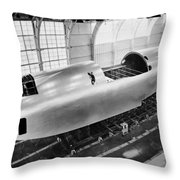 Spruce Goose Hull Construction Throw Pillow