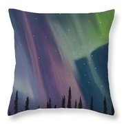 Spruce Silhouette Throw Pillow