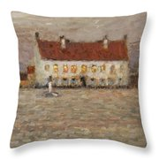 Square - Fort-philippe Throw Pillow by Henri Eugene Augustin Le Sidaner
