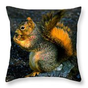 Squirrel At Riverfront Park Throw Pillow