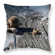 Squirrel Trash Throw Pillow