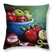 Srb Apple Bowl Throw Pillow