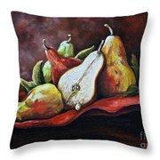 Srb Pears Throw Pillow
