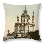 St Andrews Church In Kiev - Ukraine  Throw Pillow