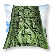 St Augustines Cross Close Up Throw Pillow