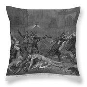 St Bartholomews Massacre Throw Pillow