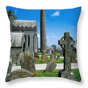 St. Canices Cathedral, Kilkenny City Throw Pillow