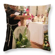St. Catherine Church Mass Throw Pillow