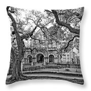 St. Charles Ave. Mansion Monochrome Throw Pillow