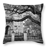St. Charles Ave. Monochrome Throw Pillow