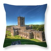 St Davids Cathedral 3 Throw Pillow