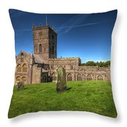 St Davids Cathedral 6 Throw Pillow