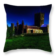 St Davids Cathedral Pembrokeshire Glow Throw Pillow